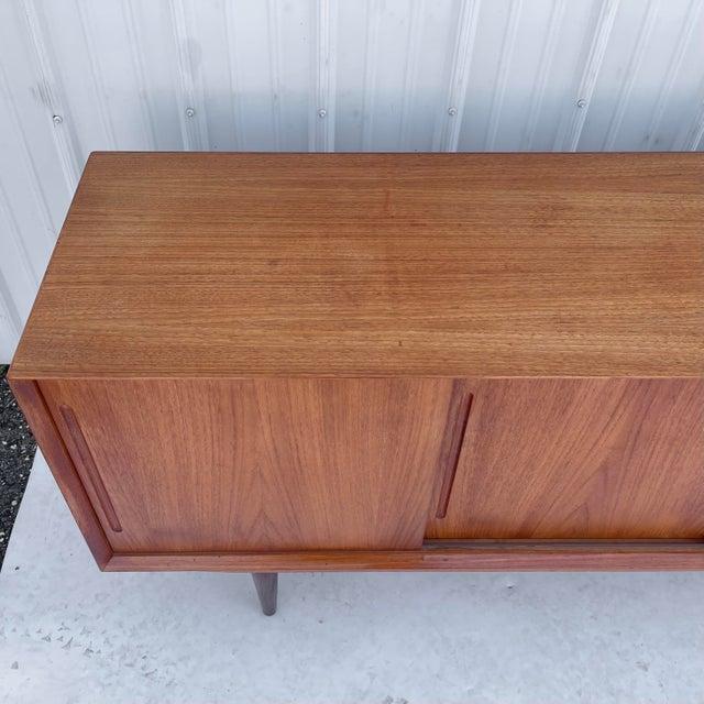 Burnt Umber Mid-Century Modern Teak Sideboard Attr. Jens Quistgaard for Løvig For Sale - Image 8 of 13