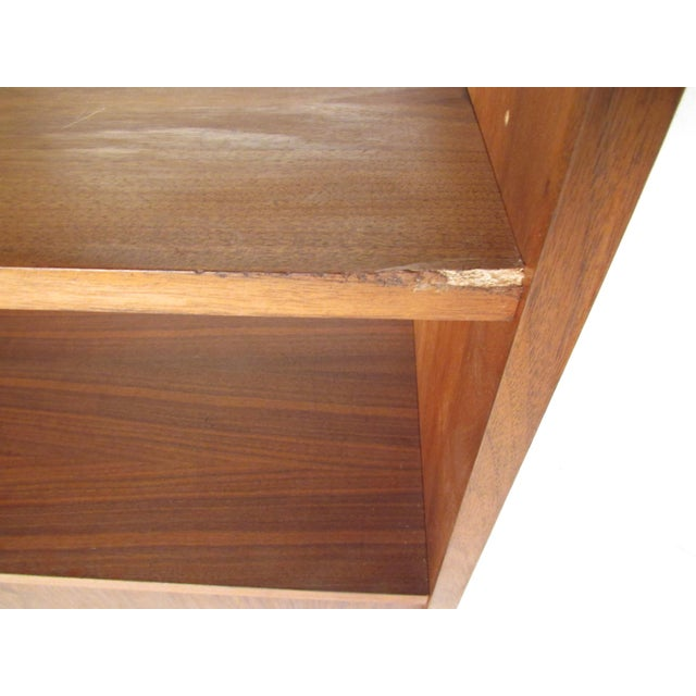 Mid-Century Walnut Bookcase or Wall Unit For Sale - Image 10 of 13
