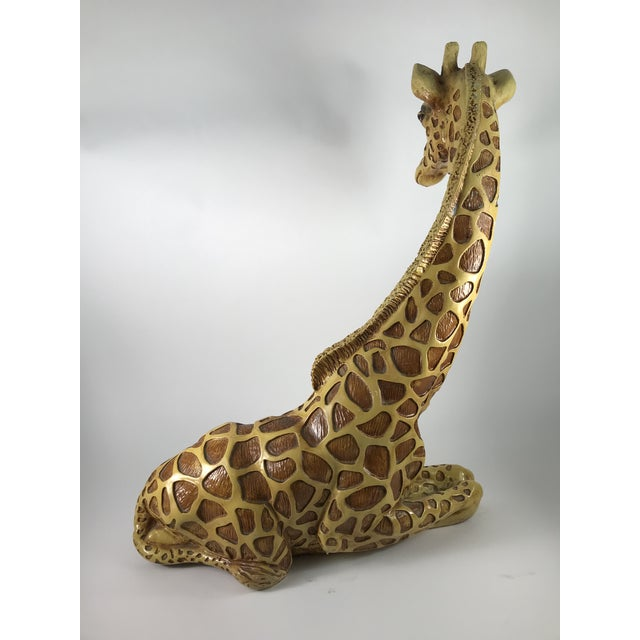 1970s 1970s Vintage Marwal Chalkware Giraffe Sculpture For Sale - Image 5 of 13