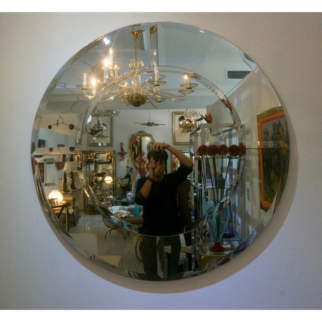 This large scale and clean lined Art Deco style wall mirror is inspired by a mirror designed by Karl Springer. Note:...