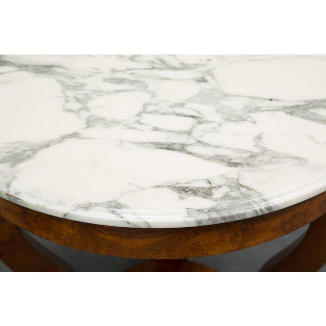 Biedermeier Empire Style Walnut Circular Table For Sale - Image 3 of 9