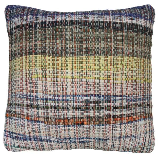 "Rug & Relic Cotton Kilim Pillow | 16"" For Sale"