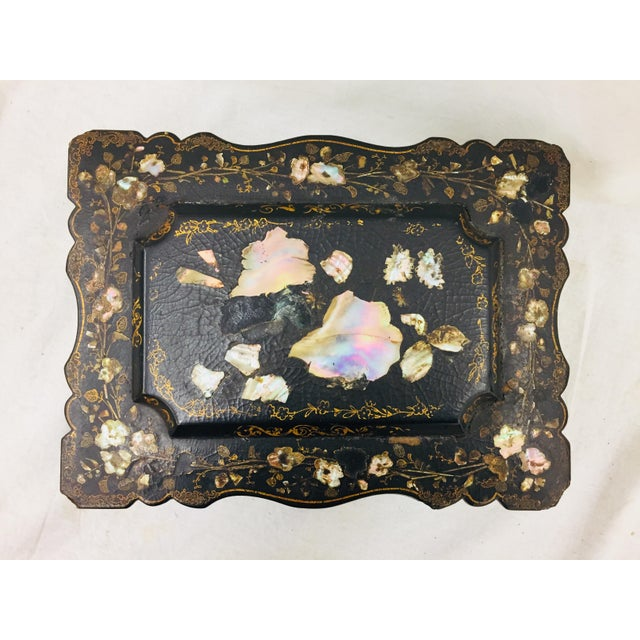 Antique Mother of Pearl Chinoiserie Box For Sale - Image 4 of 11