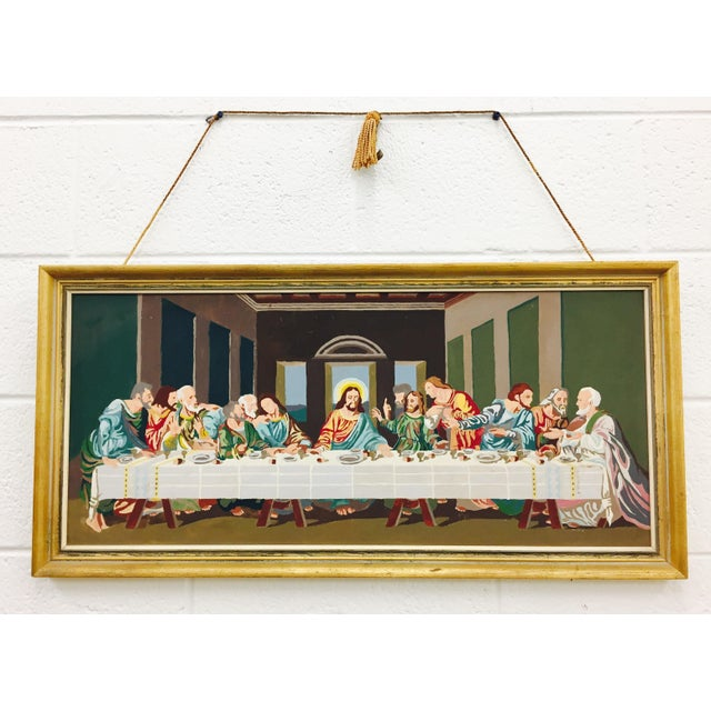 Vintage Framed Last Supper Paint By Numbers Painting Chairish