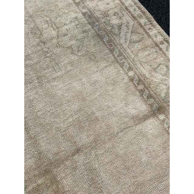 "1950's Vintage Turkish Oushak Wide Runner Rug - 5'2"" x 8'4"" For Sale - Image 9 of 13"