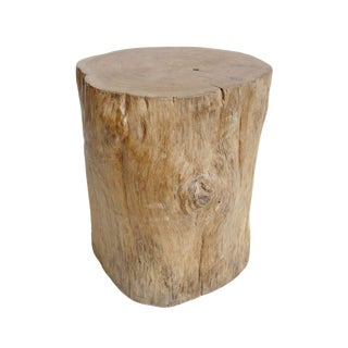 Teak Stump Side Table For Sale