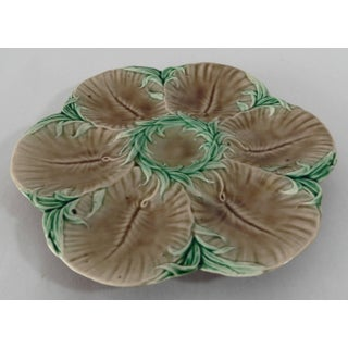 19th Century French Luneville Majolica Chocolate Oyster Plate Preview