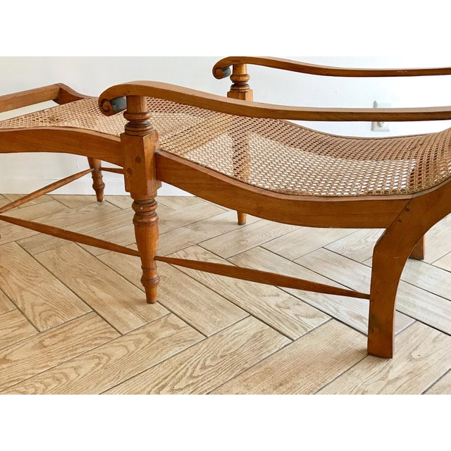 Early 20th Century Antique Bauer Plantation Chaise Lounge For Sale - Image 11 of 13