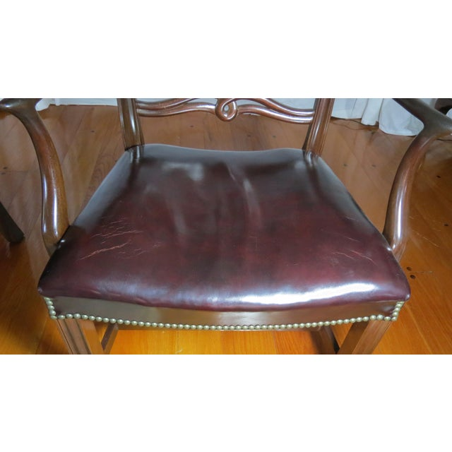 Chippendale Ribbon Back Dining Chairs - Set of 8 For Sale - Image 10 of 13