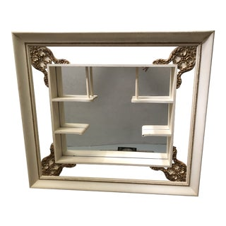 Vintage Victorian Ornate Shadow Box Shelf For Sale