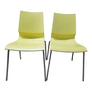 Marco Maran Yellow Ricciolina Chair - a Pair For Sale