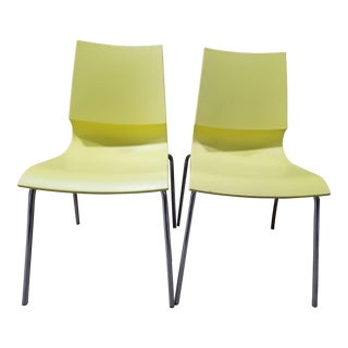 Marco Maran Yellow Riccolina Chair - a Pair For Sale