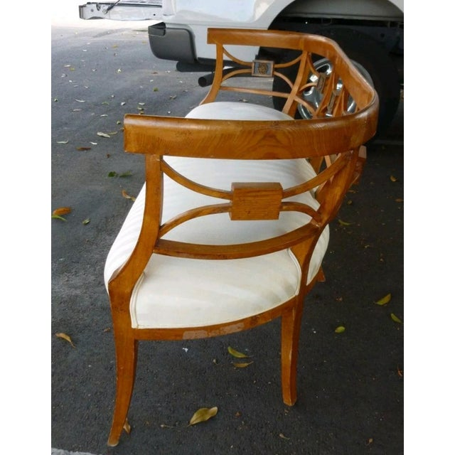 19th C Italian Neoclassical Fruitwood Settee For Sale In Miami - Image 6 of 10