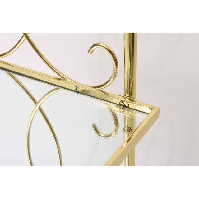 Mid-Century Italian Brass Bar Cart For Sale - Image 10 of 10