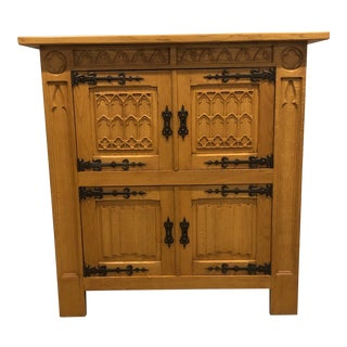 Solid Oak French Country Style Armoire For Sale