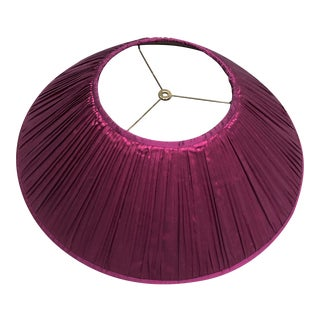 Cruel Mountain Fuchsia Silk Pleated Lampshade For Sale