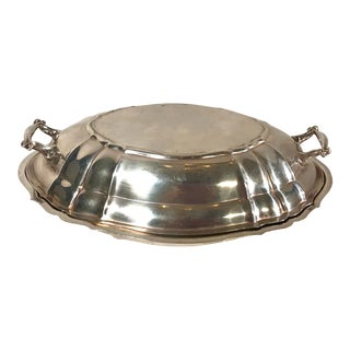 Vintage English Traditional Sterling Silver Covered Serving Bowl For Sale