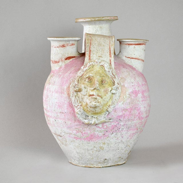 Neoclassical Canosan Terracotta Funerary Vessel For Sale - Image 3 of 4