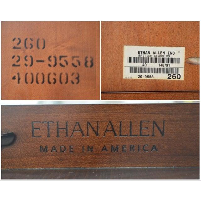 Ethan Allen British Classics Office Desk Credenza W/ Hutch Top For Sale In Philadelphia - Image 6 of 13