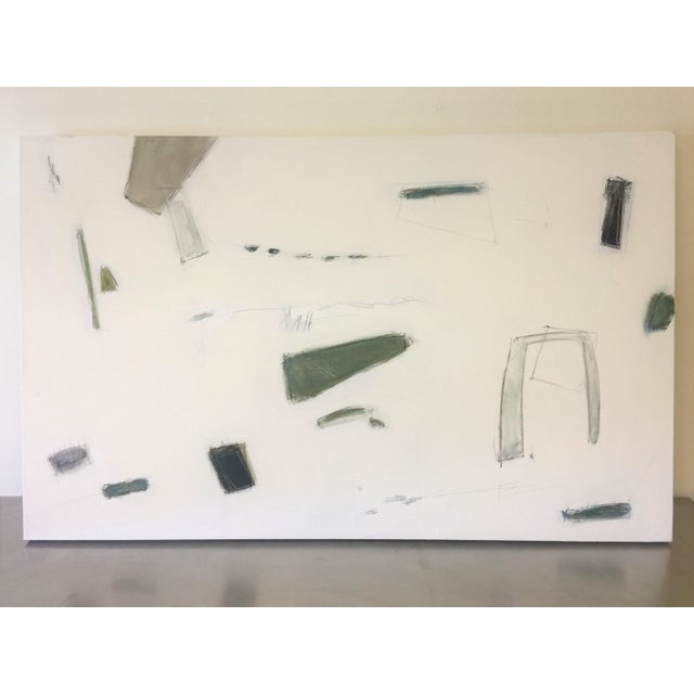 2010s Abstract Painting Blues and Greens For Sale - Image 5 of 9