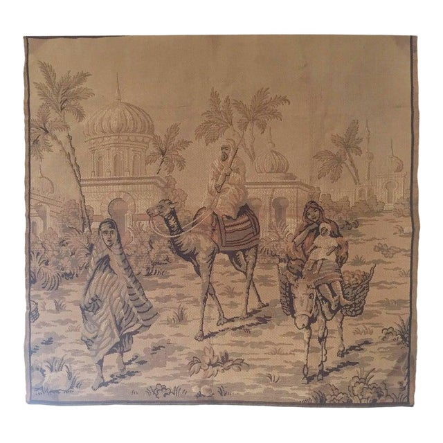 Tapestry With an 19th Century Orientalist Scene and Moorish Architecture For Sale