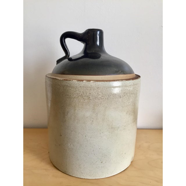 Antique Primitive Stoneware Blue Ribbon Jug For Sale - Image 11 of 11