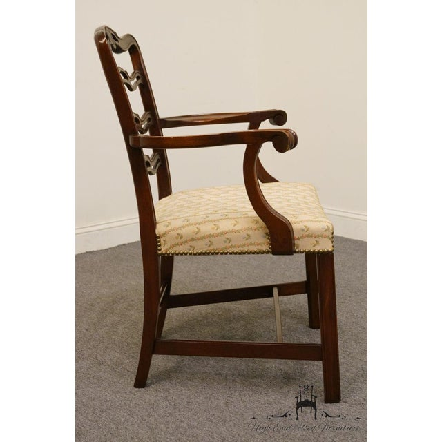 Mahogany 1940's Traditional Duncan Phyfe Mahogany Ladderback Dining Arm Chair For Sale - Image 7 of 8