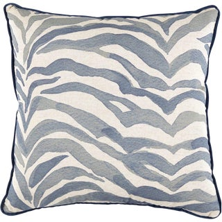 Sayari Pillow - in Indigo With Velvet Piping For Sale