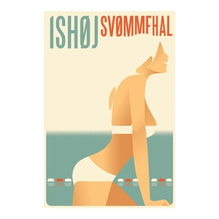 Mads Berg 'Ishoj' Danish Poster For Sale