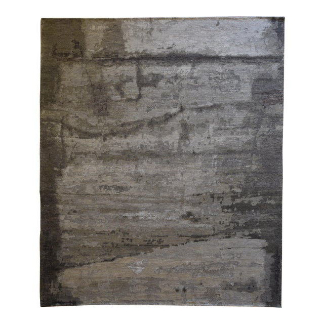 Transitional and Modern Rugs - Bunker Wall Rug (Smoke - 8 X 10) For Sale
