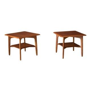 Vintage Danish Pair of Teak End Tables by Svend A. Madsen For Sale