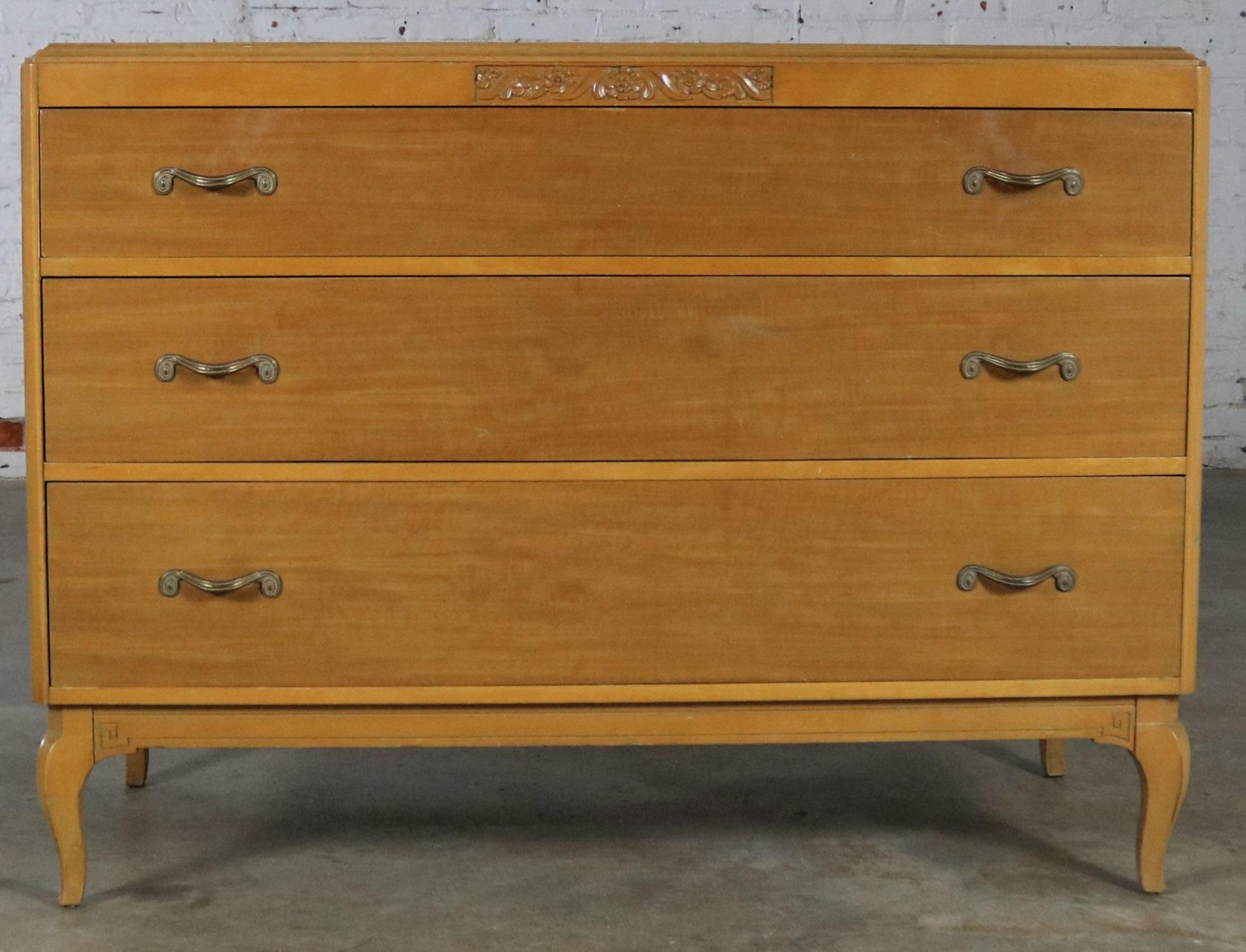 Art Deco Style Low Dresser By Rway Northern Furniture Company Of