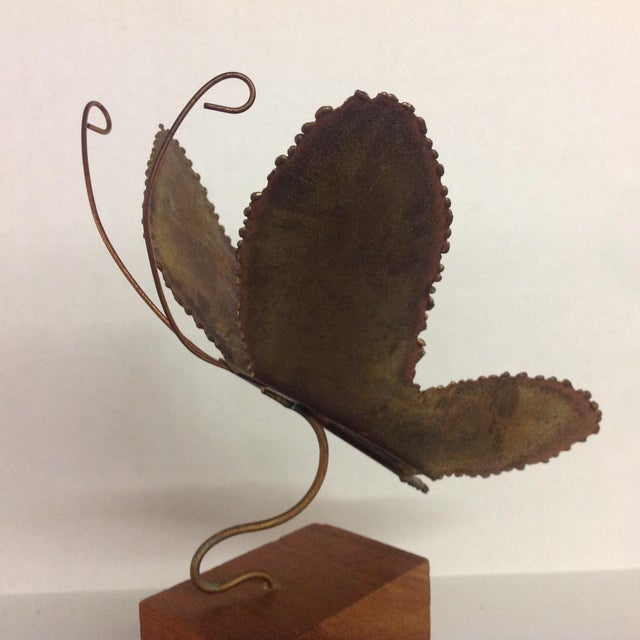 Brass Brutalist Butterfly Sculpture - Image 4 of 6