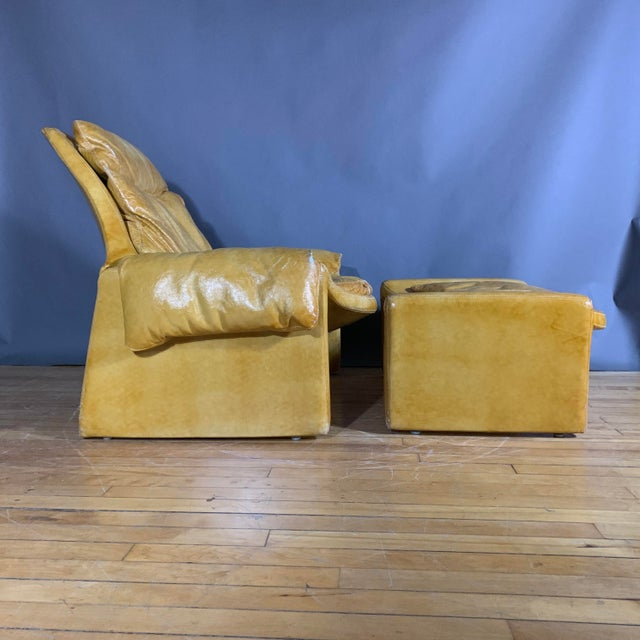 A leading light of Italian design, Vittorio Introini created this lounge chair and ottoman set in 1962 with the utmost in...