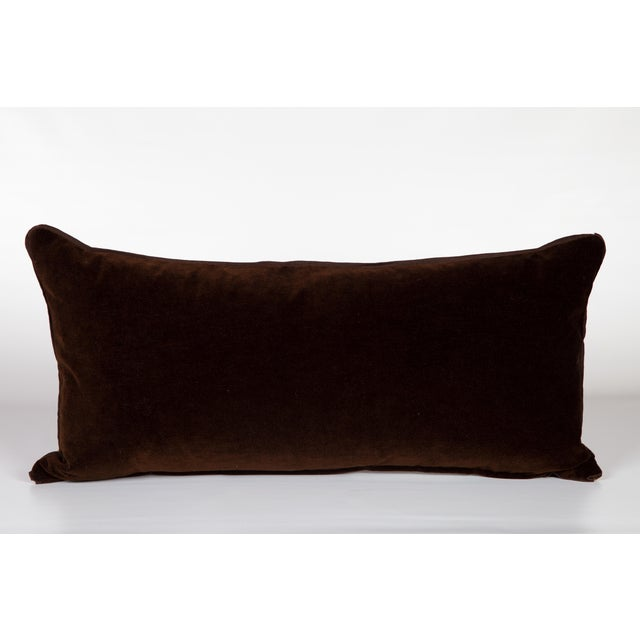 Velvet and Silk Large Tiger Lumbar Pillow For Sale - Image 4 of 5