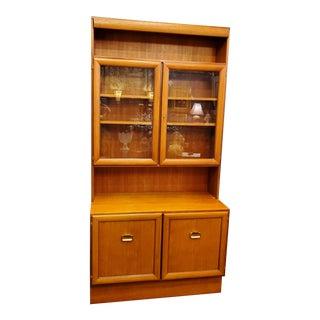 Mid Century Danish Teak Bookcase For Sale