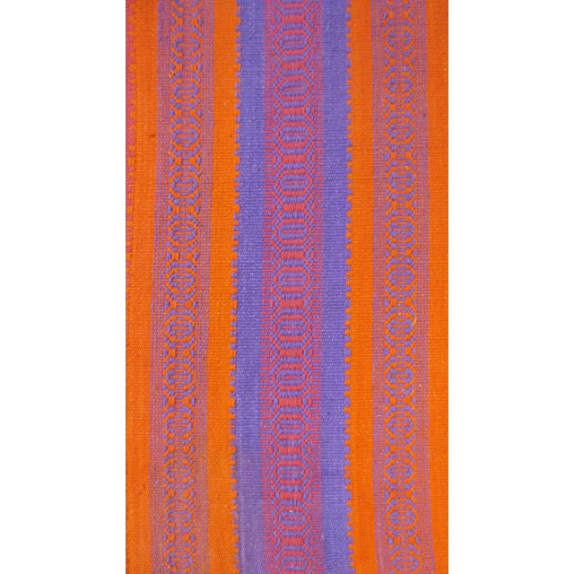 "Orange & Pink Woven Rug- 3'4"" X 6' - Image 3 of 7"