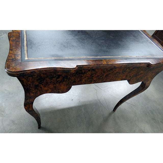 Wood Directoire Style Leather Top Writing Desk For Sale - Image 7 of 9