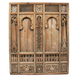 Antique Architectural Indian Window Facade For Sale