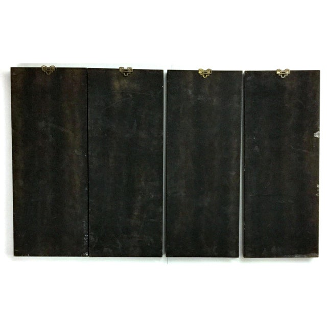 1960s Vintage Chinese Carved Stone Wall Panels - Set of 4 For Sale - Image 12 of 12