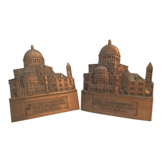 Vintage The First Church of Christian Science Boston Ma Bookends - Set of 2 For Sale