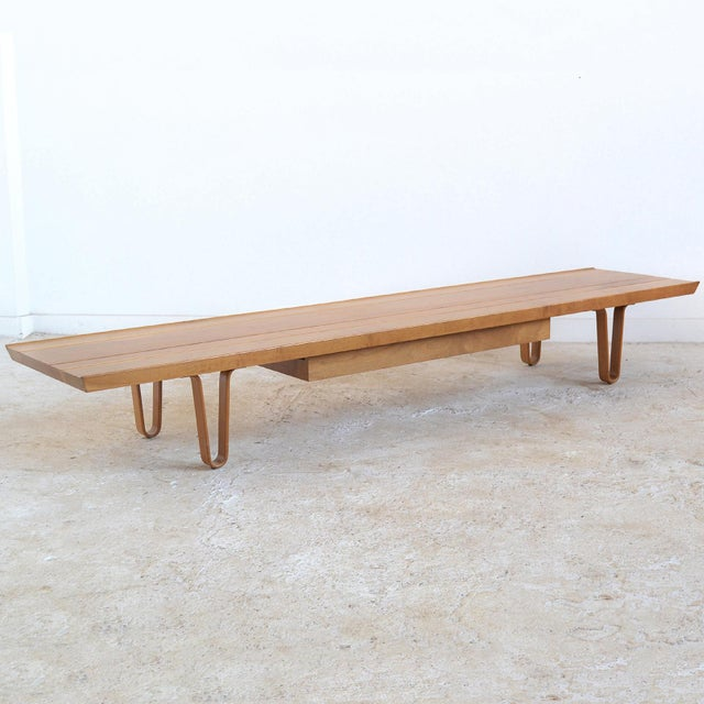 Edward Wormley Long John Bench/ Table by Dunbar - Image 2 of 9