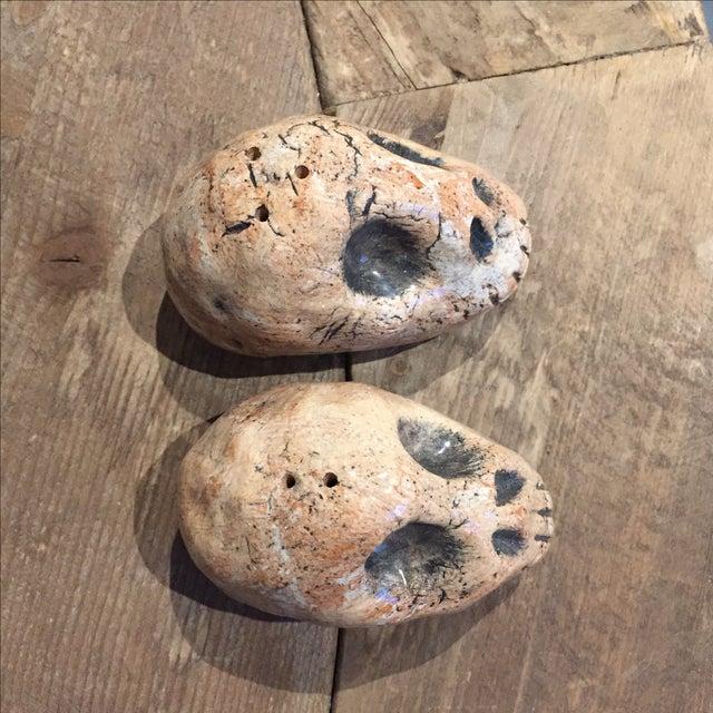 Folk Art Skull Salt & Pepper Shakers - A Pair - Image 3 of 7