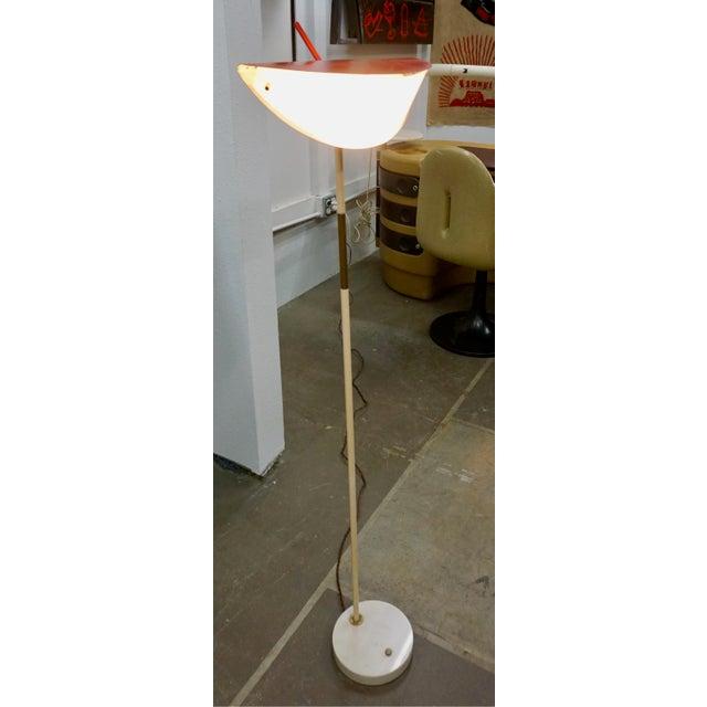 White 1950s Mid-Century Modern Italian Floor Lamp For Sale - Image 8 of 9