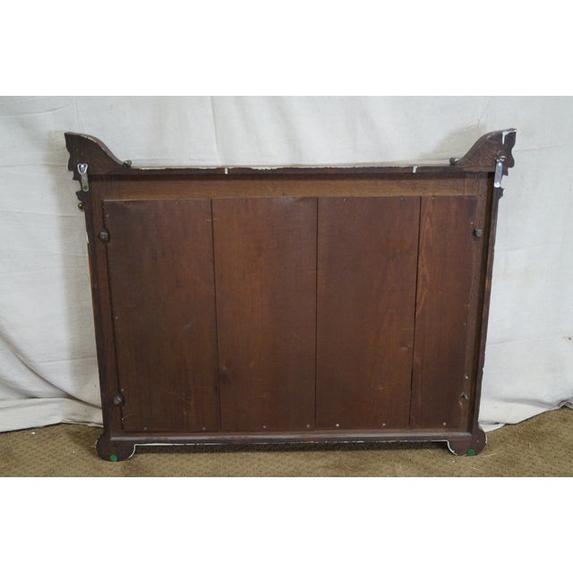 Antique Victorian Oak Carved Hall Mirror - Image 4 of 10