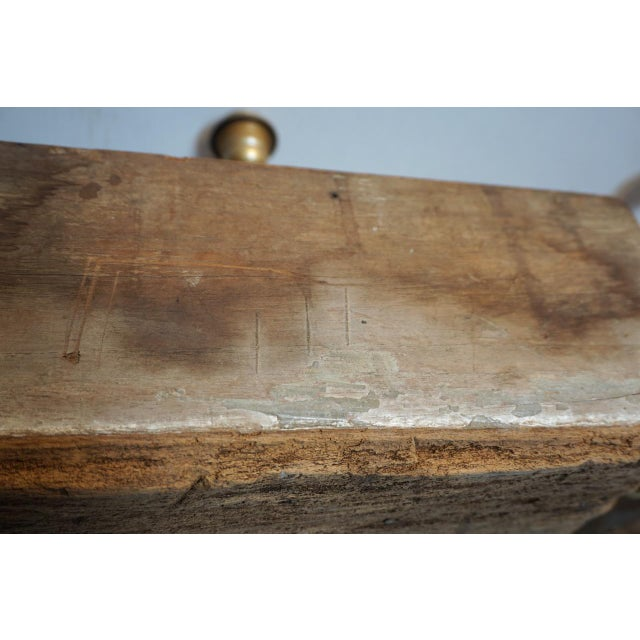 Antique Solid Hewn Wood Block Lamps-Pair For Sale - Image 10 of 13