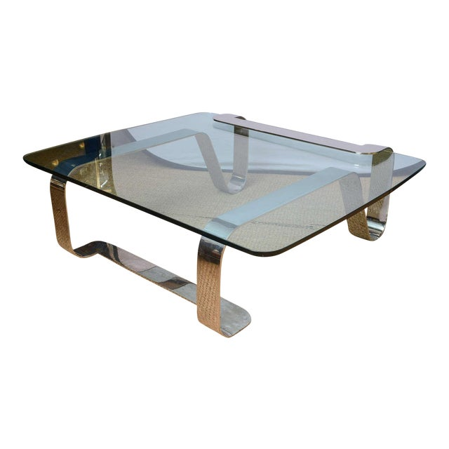 """Rare and Sculptural Gary Gutterman """"Odyssey"""" Coffee Table in Polished Steel For Sale - Image 10 of 10"""