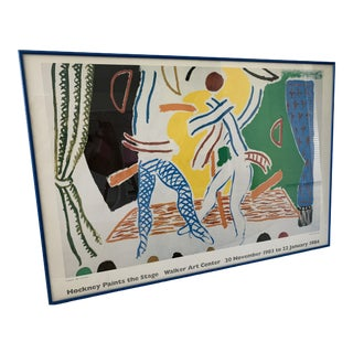 David Hockney Original Exhibition Poster For Sale
