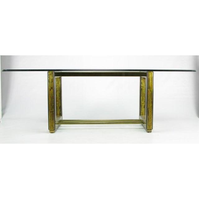 Bernhard Rohne Mastercraft Bernhard Rohne Acid-Etched Brass Table For Sale - Image 4 of 9