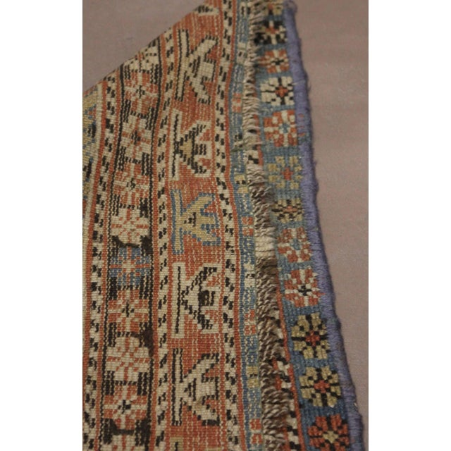 Late 19th Century 'Super Worn' Antique Caucasian Rug For Sale - Image 4 of 9